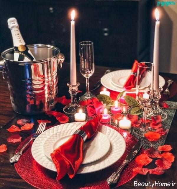 تزیین جالب میز به کمک شمع