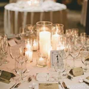 تزیین زیبا میز با شمع