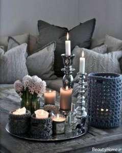 تزیین جالب میز با شمع