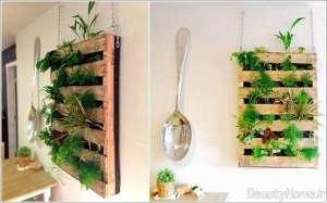دیزاین باغچه روی دیوار