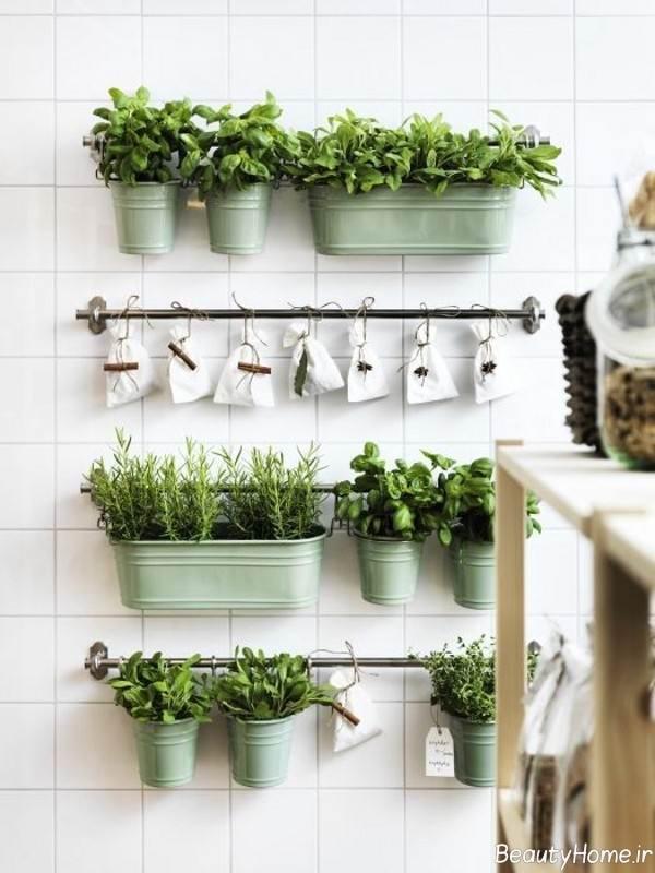 تزیین دیوار با باغچه