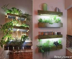 نورپردازی باغچه دیواری
