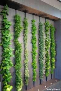 باغچه زیبا دیواری