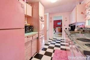 دکوراسیون آشپزخانه صورتی