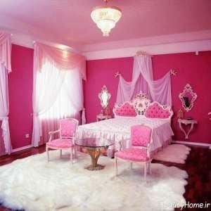 دیزاین داخلی اتاق خواب صورتی