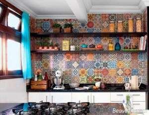 دکوراسیون آشپزخانه سنتی شیک