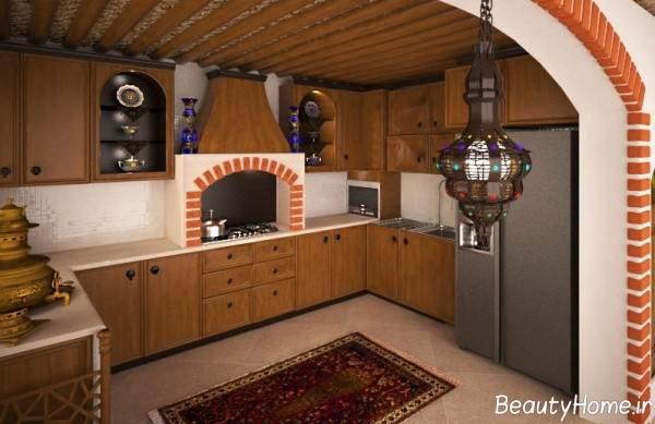 دکوراسیون زیبا آشپزخانه سنتی