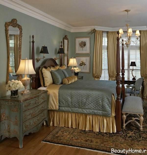 طراحی داخلی اتاق خواب به سبک سنتی