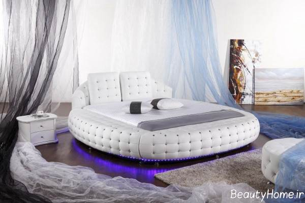 تختخواب چرمی سفید