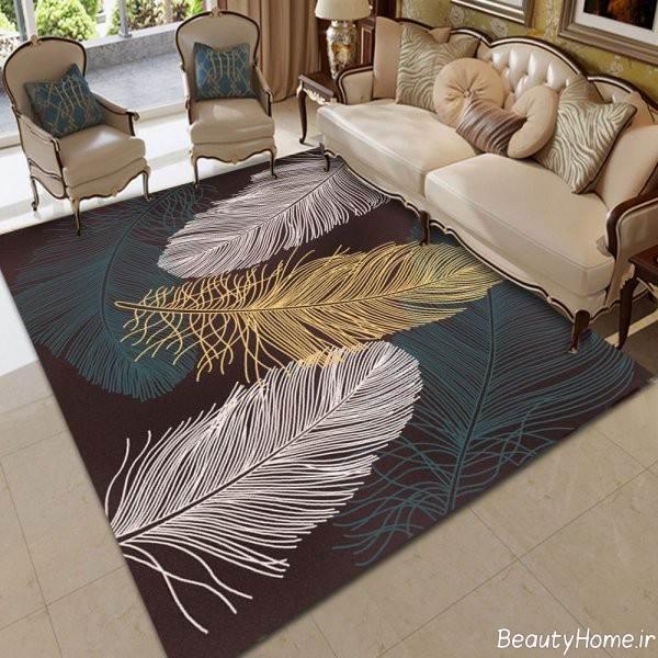 فرش طرح دار برای سالن پذیرایی