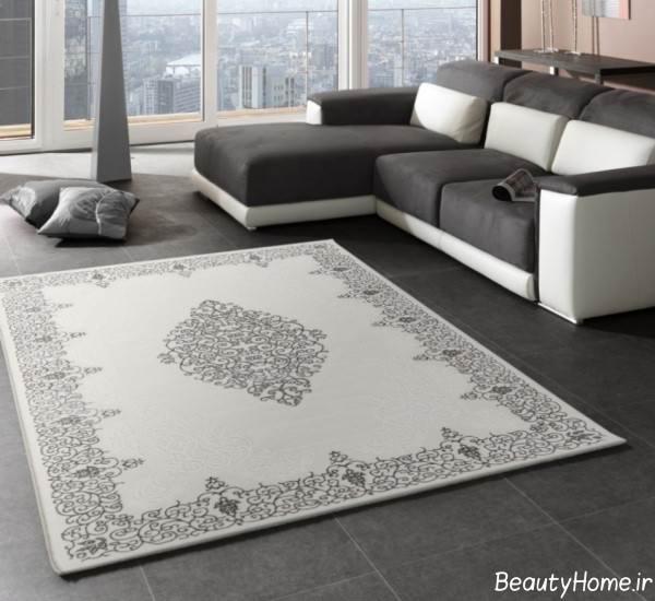 مدل فرش رنگ روشن ایرانی