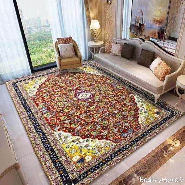 فرش طرح دار برای پذیرایی