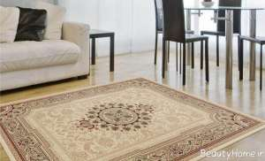فرش رنگ روشن برای پذیرایی