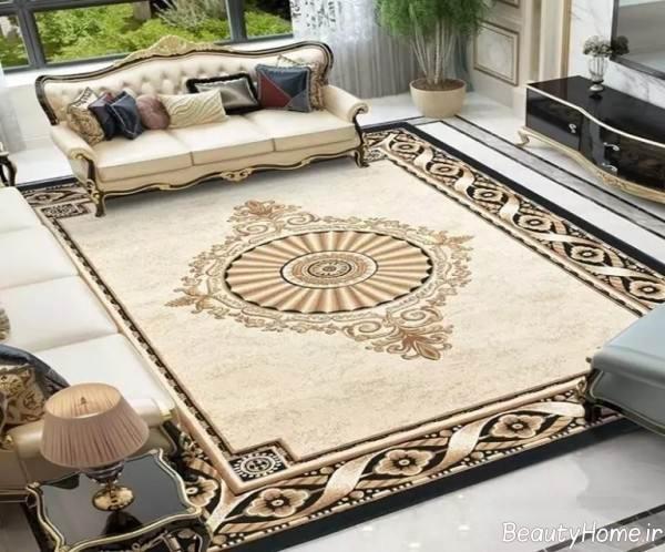فرش رنگ روشن و شیک