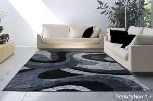 مدل فرش پذیرایی طرح دار
