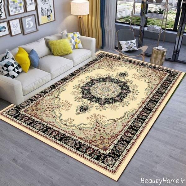 مدل فرش شیک اتاق پذیرایی