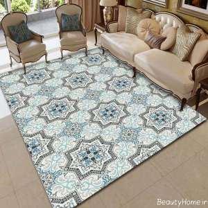 مدل فرش طرح دار برای پذیرایی