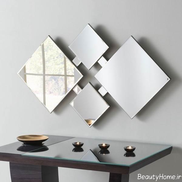 تزیین زیبا پذیرایی با آینه