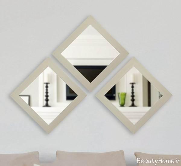 آینه کاری شیک مخصوص اتاق پذیرایی