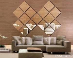 تزیین دیوار با آینه
