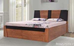 تخت خواب دو رنگ