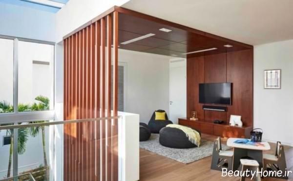 طراحی داخلی منزل با پنل چوبی