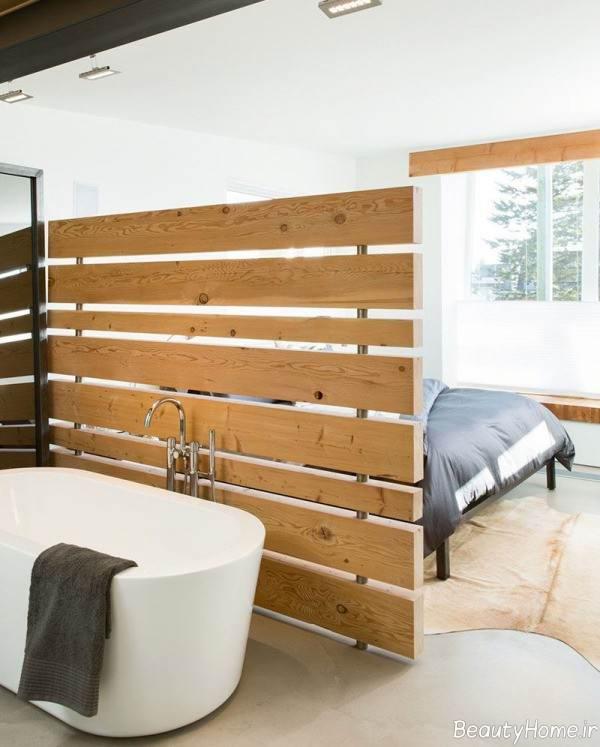 جداسازی منزل با پانل چوبی