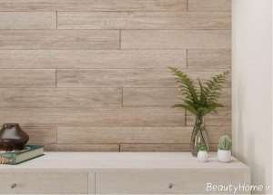 پنل چوبی رنگ روشن