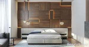 دکوراسیون اتاق خواب با پنل چوبی