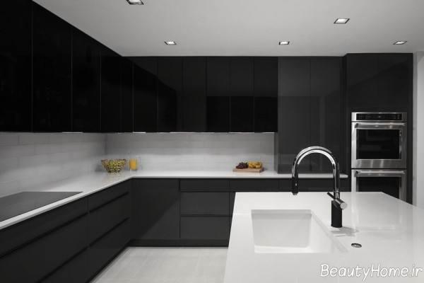 کابینت ساده برای آشپزخانه