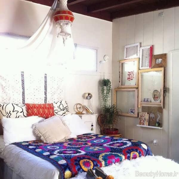 دکوراسیون اتاق خواب به سبک بوهو