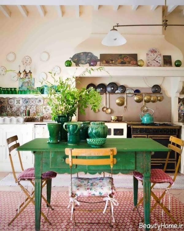 طراحی داخلی بوهو برای آشپزخانه