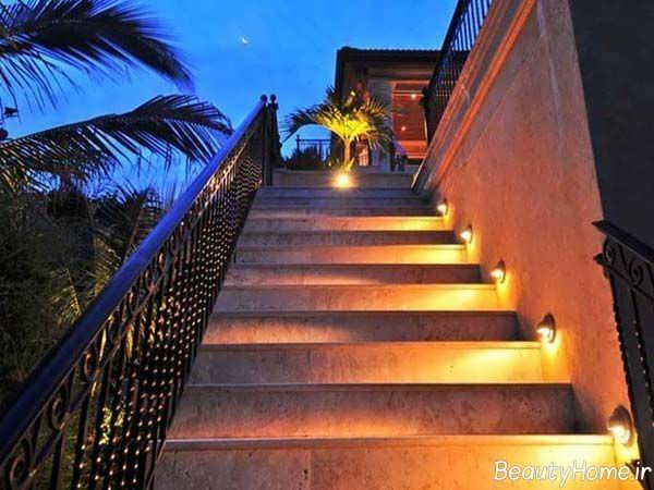 دیزاین نورپردازی راه پله ها