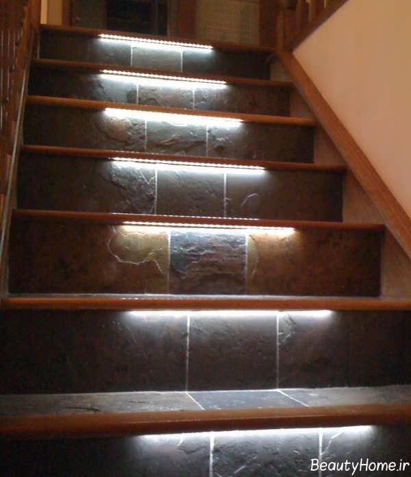 دیزاین نورپردازی برای پله ها