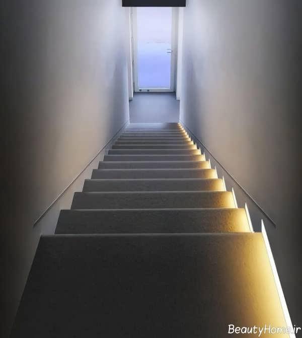 نورپردازی پلکان با روش های مختلف