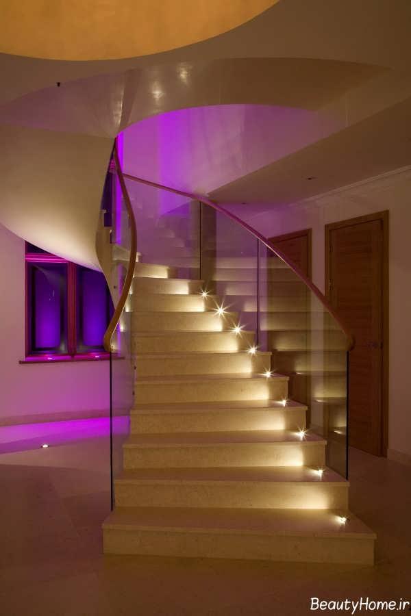 طراحی نورپردازی پله