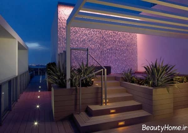 نورپردازی زیبا و خاص برای پله ها