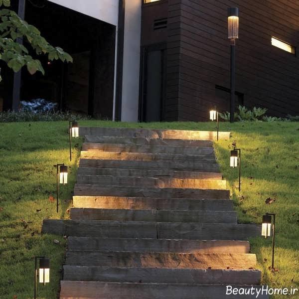 نورپردازی ساده برای راه پله ها