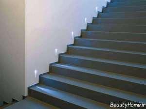 نورپردازی ساده برای پلکان