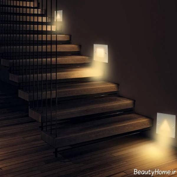دیزاین نورپردازی برای راه پله ها