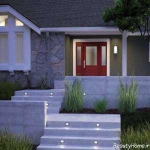 نورپردازی ساده راه پله ها