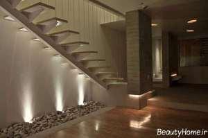 طراحی نورپردازی ساده برای راه پله ها