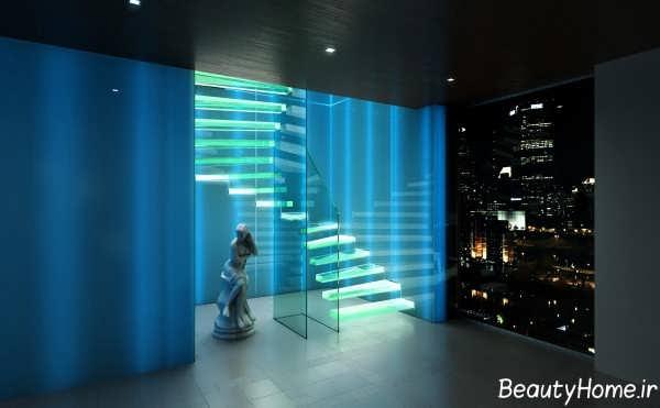 نورپردازی برای راه پله ها