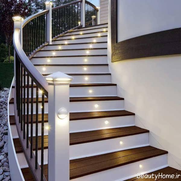 نورپردازی شیک و کاربردی برای راه پله ها