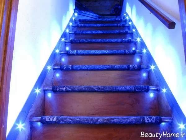 نورپردازی زیبا پله ها