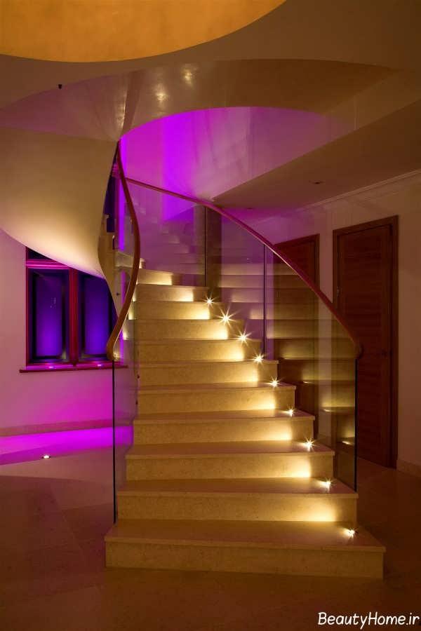 طراحی نورپردازی برای پله های ساختمان
