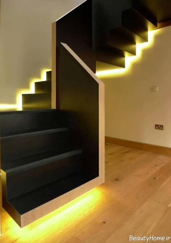 نورپردازی مخفی برای پلکان