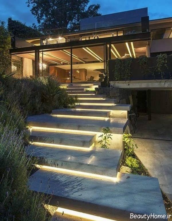 نورپردازی شیک برای پله ها