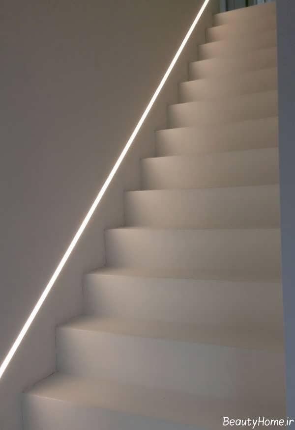 نورپردازی ساده برای راه پله