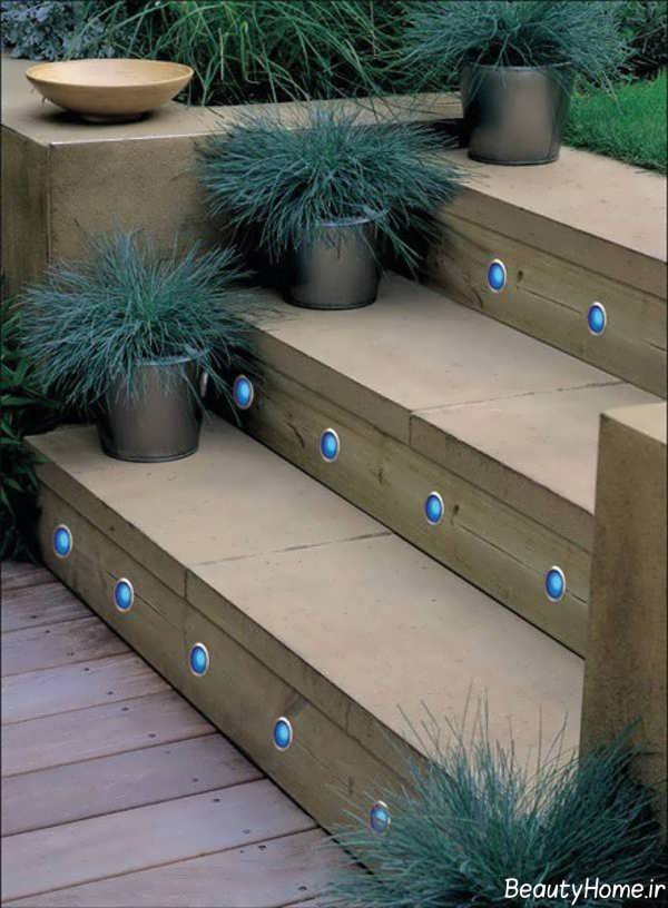 دیزاین نورپردازی پله ها